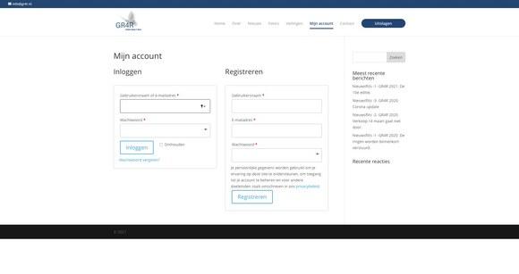 GR4R 2021 account pagina